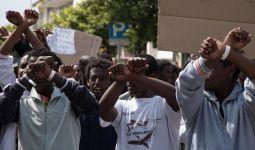 Protesta migranti Pirri_Roberto Pili