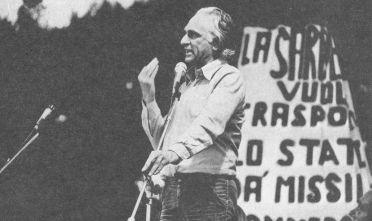 La Maddalena, Prima marcia internazionale antimilitarista (1976)