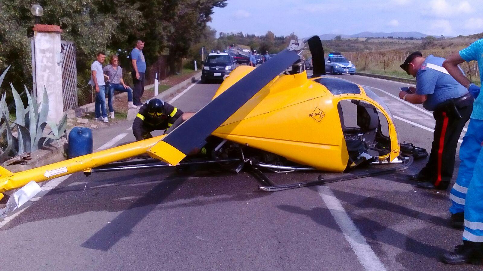 Elicottero Ultraleggero : Elicottero ultraleggero caduto a soleminis morto il