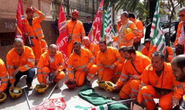 Manifestazione minatori di Olmedo a Sassari