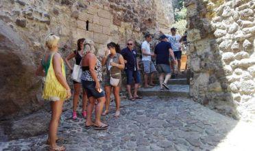 Castelsardo, turisti al Castello dei Doria