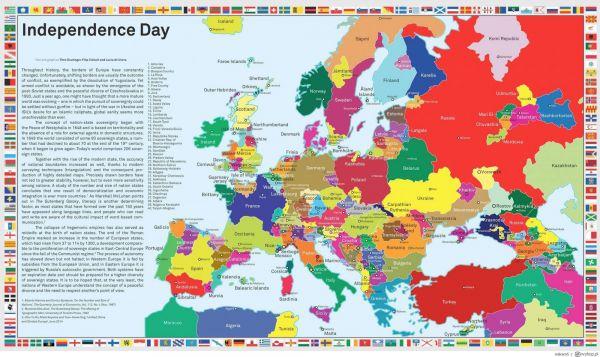 Cartina Europa Economica.Un Europa Divisa In Ottanta Stati Nella Mappa Anche La Sardegna