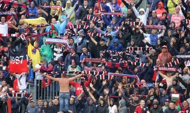Cagliari Crotone Campionato di serie 2017/18 i tifosi della nord sconvolts