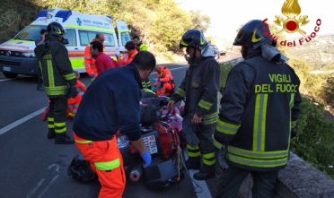Incidente Bitti Orune vigili del fuoco 118