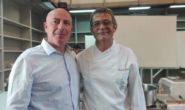 Rettore Sassari Carpinelli e chef Petza