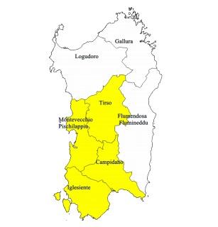 Cartina Sardegna Centro Ovest.Rischio Idrogeologico E Allerta Gialla Nella Sardegna Centro Occidentale Sardiniapost It