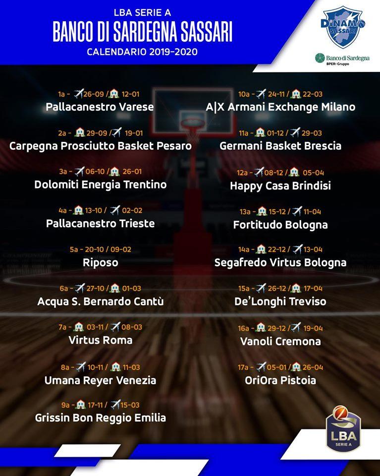 Calendario Fortitudo 2020.Dinamo Prima Di Campionato A Varese Pozzecco Sara Una